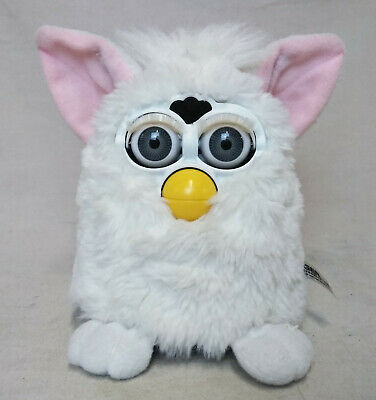 VTG Tiger Furby Babies Original 70-800 White with Gray Eyes Pink Ears 1998