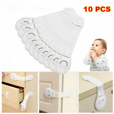 10x Child Baby Cupboard Cabinet Safety Locks Pets Proofing Door Drawer Fridge UK