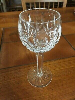 "Waterford Lismore Crystal Tall Hock Wine Goblet, 7 1/2"" Tall, 2 5/8"" Diameter"