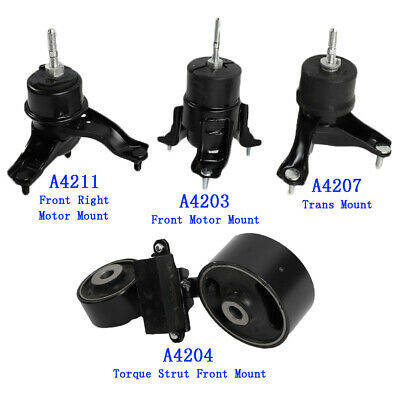 Transmission Engine Mounts Front Right Set Kit 2.4L For Toyota Camry