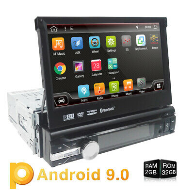 Car DVD radio player Android 9.0 Flip Up GPS Navigation WiFi single Din 2GB 32GB