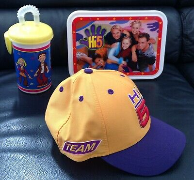 Hi-5 2 Lunch Box + Drink Cup Cap + Cap Hat embroidered TEAM VIP gift NEW