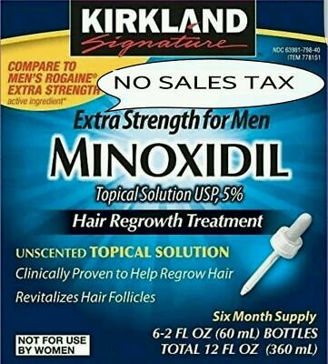 🔥Kirkland Minoxidil 5% Extra Strength Men Hair Regrowth Solution 6 Month Supply