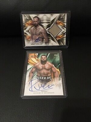 2019 Topps Wwe Undisputed Rusev / Aiden English Auto Shirt Relic Gold Ssp/10 Lot