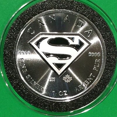 Superman Rare Collectible Canada $5 Coin 1 Troy Oz .9999 Fine Silver Round Medal