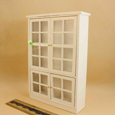 1:12 Dollhouse Miniature Furniture Kitchen Cabinet W Display Cupboard Shelf