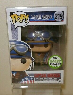 Funko Pop Captain America 219 ECCC 2017 Spring Convention Exclusive First Avengr