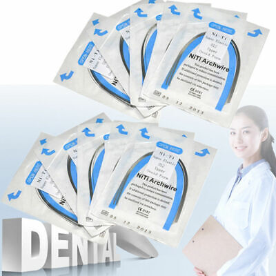 10pcs/pack Dental Orthodontic NITI Super Elastic Round Arch Wires Oval All Size
