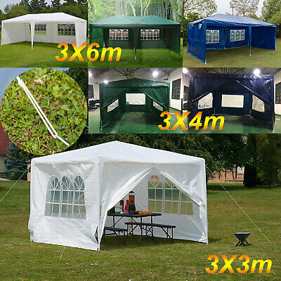 3x3m 3x4m 3x6m Gazebo Marquee Party Tent Waterproof Garden Patio Outdoor Canopy