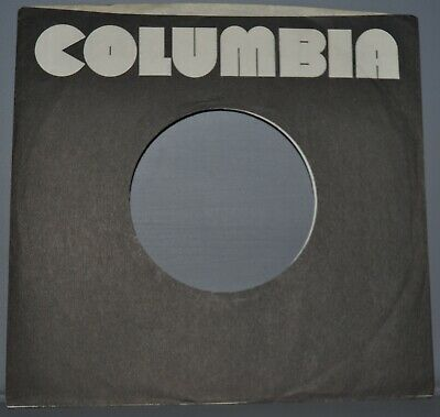 10x 45 rpm COLUMBIA black pac man company sleeve LOT original record sleeves 7""