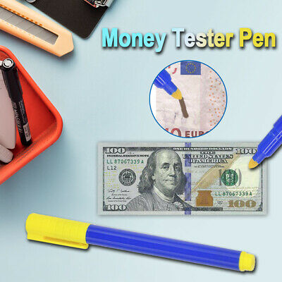 Money Tester Checker Pen Bank Forged Note Detector Pens Fake Notes Pen Fraud