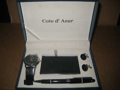 Cote d' Azur  Pen, Watch,Card Holder & Cufflink Set