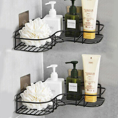 Punch-Free Corner Shower Shelf Rack Kitchen Bathroom Storage Rack Accessory Sets