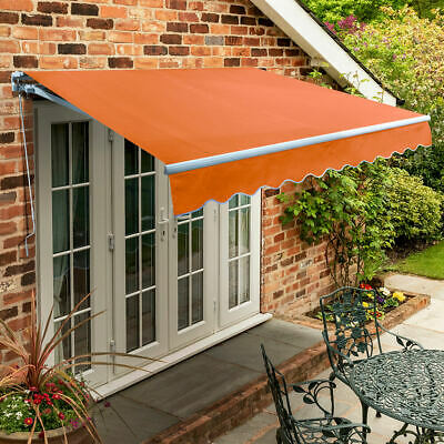 Garden Canopy Standard Manual Retractable Patio Awning USED Terracotta 2.5 m