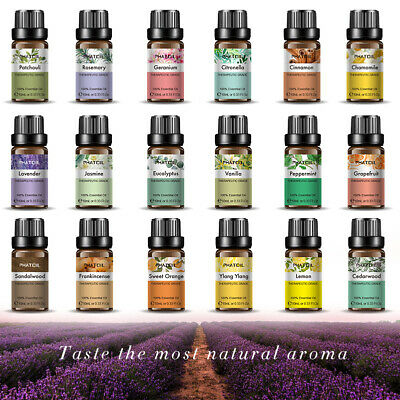 Essential Oils Pure 10ml Aromatherapy Natural Oil Organic Aroma Diffuser Burner