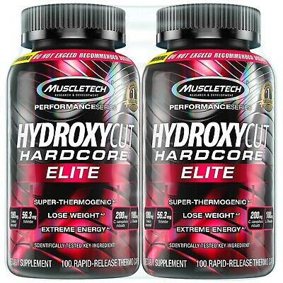 Hydroxycut Hardcore Elite Weight Loss Supplement,Designed for Hardcore(200 Pills