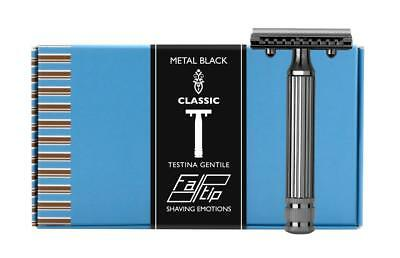 Fatip Gentile Grande Black Nickel Safety Razor 42123 (Seconds)