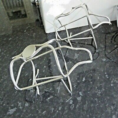 Vintage Pair Heavy Silver Plate Ep Wine Bottle Holder Carriers Coaster  Gleaming