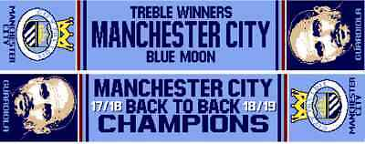 Manchester City Treble Scarf Back to Back Champions 2019
