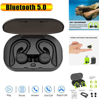 Wireless BT 5.0 Earphones Sports in-Ear Headset Waterproof Stereo Headphones New