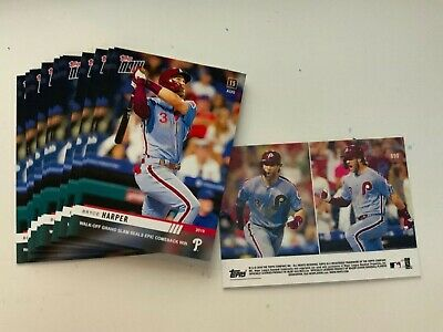 2019 TOPPS NOW #690 BRYCE HARPER WALK OFF GRAND SLAM PHILLIES Just 2287 Made!