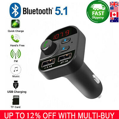 Bluetooth In-Car Wireless FM Transmitter MP3 Radio Adapter Car Kit Charger 007CA