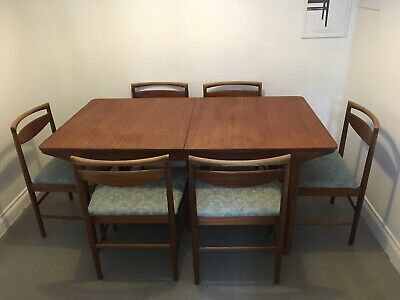 Vintage mcintosh dining table and chairs. Mid Century