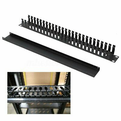 1u Horizontal Rack Mount Cable Management Unit With Panel 19 Inch Tidy Black