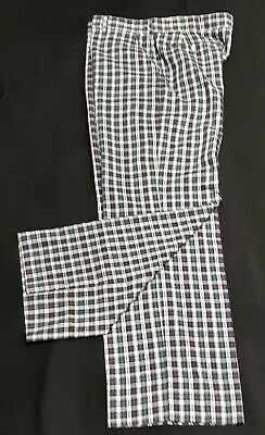 """Checked pants, 1960's, cotton USA, by 'Haggar' size XL, 38"""""""