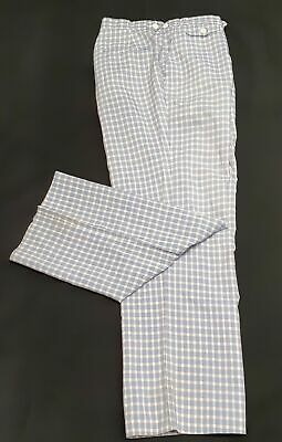 """Checked pants, 1980's,  USA by 'Izod', polyester/ rayon size M 34"""""""
