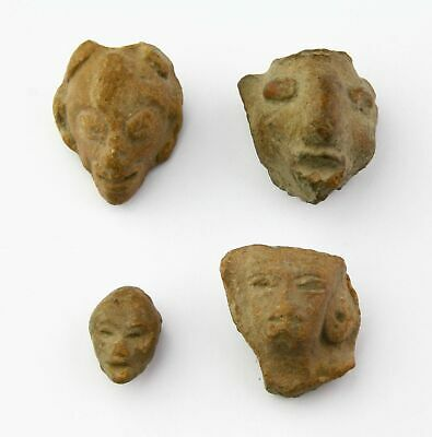 *Sc*Nice Lot Of Pre-Columbian Mexico Pottery Heads, 500 Bc-500 Ad!