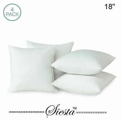 Pack of 4 Extra Deep Filed 18x18 Inches Cushion Pads Inserts Fillers Scatters