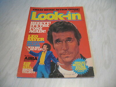Look-In magazine Junior TV Times No. 44 1977 29 October complete Leo Sayer