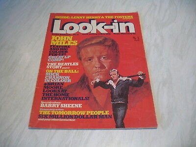 Look-In magazine Junior TV Times No. 21 1976 15 May complete John Miles poster