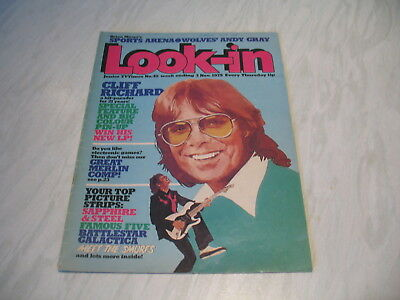 Look-In magazine Junior TV Times No. 45 1979 3 November complete Cliff Richard