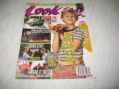 Look-In magazine Junior TV Times 1992 24 October No. 43 Frank the Tortoise