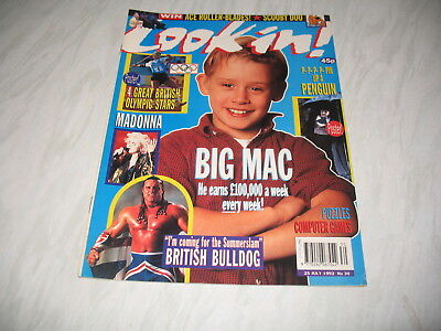 Look-In magazine Junior TV Times 1992 25 July No. 30 complete Barcelona Olympics