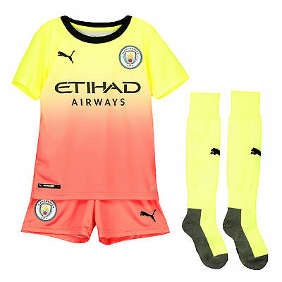 Puma Official Kids Manchester City FC Third Mini Football Full Kit 2019-20