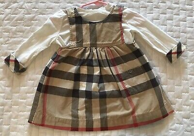 Burberry Infant Girl Shirt and Dress Size 12m