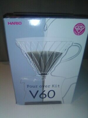 Hario V60 Pour Over Coffee Starter Kit, Size 02, Clear