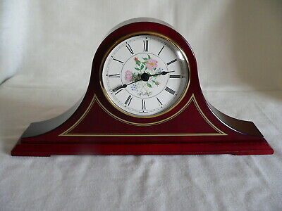 Vintage St. James Nelson Hat style Wooden Mantle Clock-quartz Kienzle movement