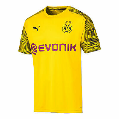 Puma Official Mens BVB Borussia Dortmund Football Training Jersey Shirt Yellow