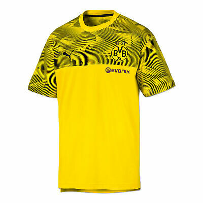 Puma Official Mens BVB Borussia Dortmund Football Casuals T-Shirt Tee Top Yellow