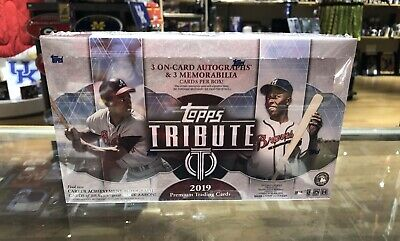 IN STOCK 2019 Topps Tribute Baseball Factory Sealed Hobby Box 6 Hits! 3 AUTOS!