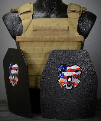 CATI AR500 Body Armor Level 3 Plates Active Shooter Sentry Adv.SC Coyote Brown