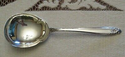 "Prelude Sterling Silver 9 1/8"" Salad Serving Spoon by International Silver"