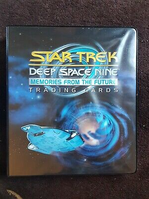 Star Trek: DS9 Memories From the Future trading card base set/binder + auto card