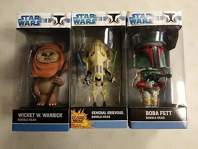 Star Wars Funko Wacky Wobbler General Grievous Boba Fett Bobble-Head New Lot