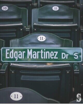 "Seattle Mariners ""EDGAR MARTINEZ Dr S"" Replica Street Sign 8/11/19 SGA vs. TBR"