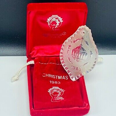 Waterford Crystal glass Christmas ornament Ireland 1983 ball decoration vtg 2